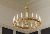 Luxury hanging chandelier in pure brass | Human Heritage