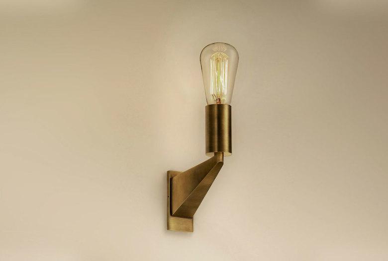 Handmade Brass Wall Lights : Handmade luxury wall light in pure brass Human Heritage