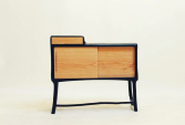 Cabinet in burned hazel branches and oak | Human Heritage