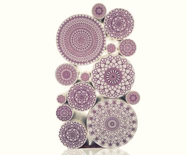 Enxoval Bar, Corian, Swarovski crystals Amethyst, Golden leaf, Wood Palissandro | Human Heritage