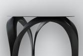 Luxury side table in carbon fiber matte black finish | Human Heritage
