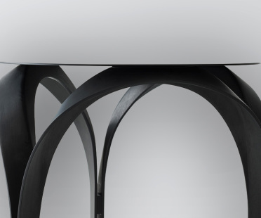 Luxury side table in carbon fiber matte black finish | Human Heritage