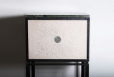 Cabinet in Brazilian marble, engraved stone, wrought iron | Human Heritage