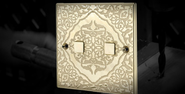 Electrical switches, handmade in guilloched metal | Human Heritage