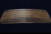 Hanging Lamp in oak or bangkiraï, and polyester | Human Heritage