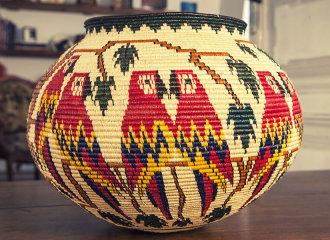 Hosig Di Basket TROPIC, Palmier noir, fabriqué au Panama, pièce unique | Human Heritage