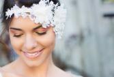 Handmade luxury wedding diadem, chantilly lace | Human Heritage