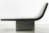 Handmade luxury lounge chair in marble and leather | Human Heritage