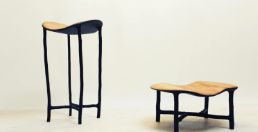 Pedestral tables in burned hazel branches and oak | Human Heritage