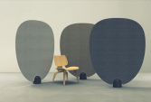 Screen in lacquered concrete and fabric Dedar | Human Heritage