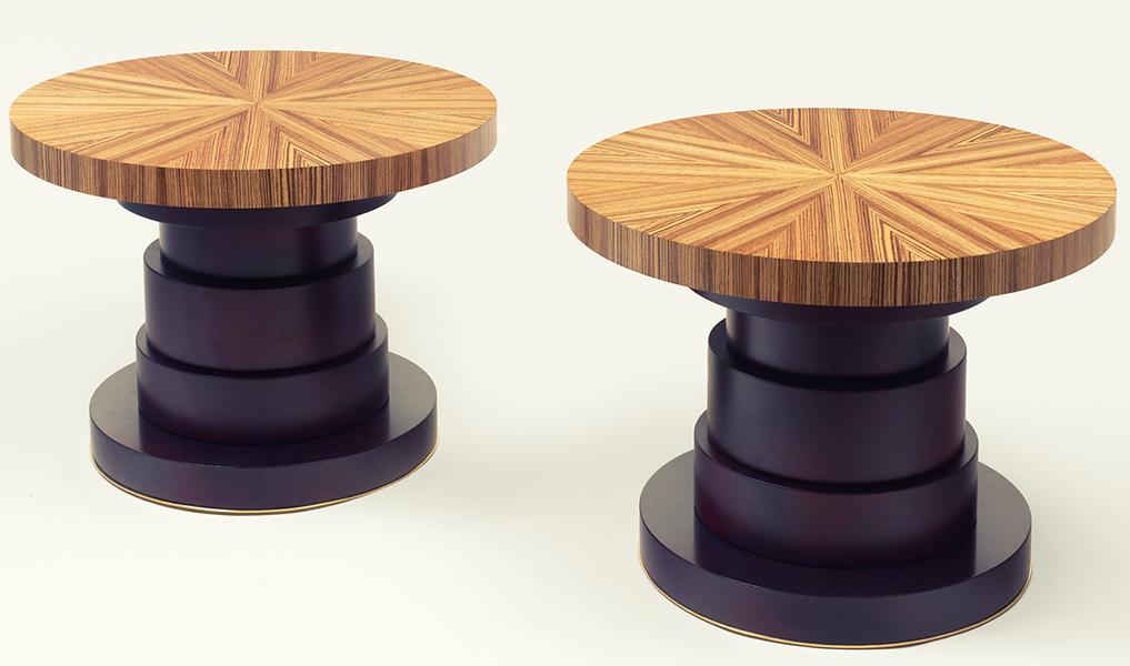 table basse plateau en zebrano pied laqu et verni jonc en laiton human heritage. Black Bedroom Furniture Sets. Home Design Ideas