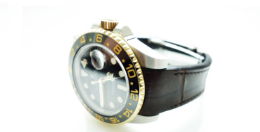 Bespoke watch strap in crocodile leather for Rolex GMT Master II | Human Heritage